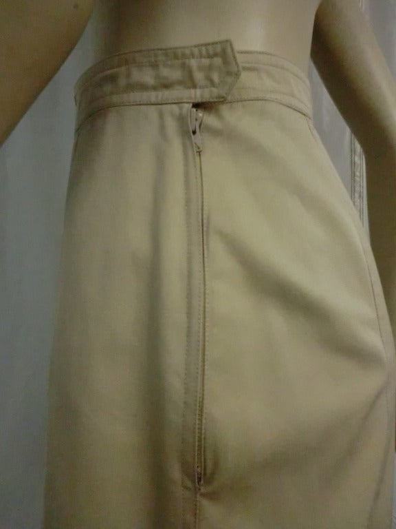 1970's Yves Saint Laurent Khaki Skirt 4