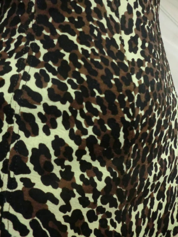 1960's Leopard Print Cole of California One-Piece Bathing Suit 6