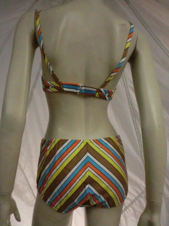 """1960's Striped """"Annette"""" Style Bikini 5"""