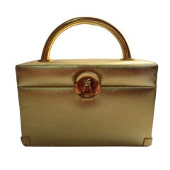 1960s Koret Textured Gold Box Bag
