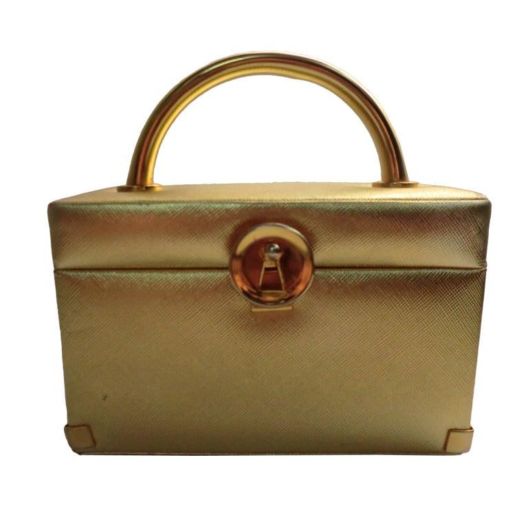 1960s Koret Textured Gold Box Bag
