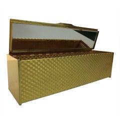 1960s Koret Gold-Tone Rectangular Box Clutch