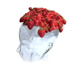 1950s Irene Strawberry Hat from I. Magnin