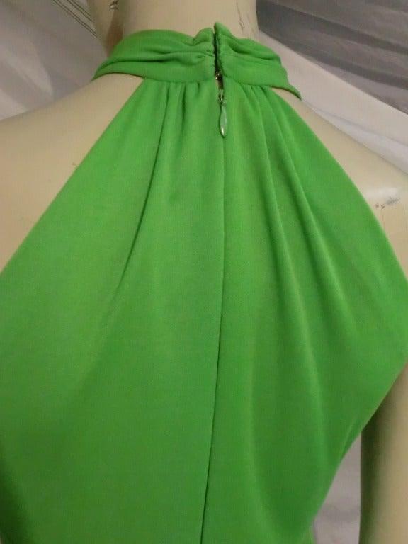 Women's 1970s Mignon Halter Gown w/ Huge Faux Tusk Neckpiece For Sale