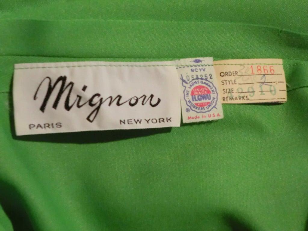 1970s Mignon Halter Gown w/ Huge Faux Tusk Neckpiece For Sale 3