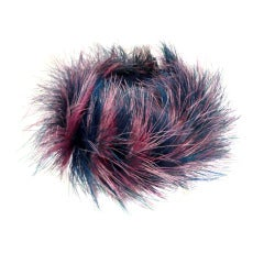 1960s Deborah Exclusive Pink and Aqua Feather Pillbox Hat