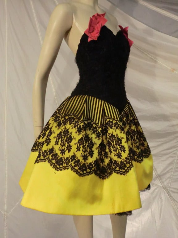 Christian lacroix haute couture pouf dress at 1stdibs for Haute couture dress price