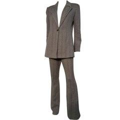 1990s Randolph Duke Herringbone Wool Pantsuit