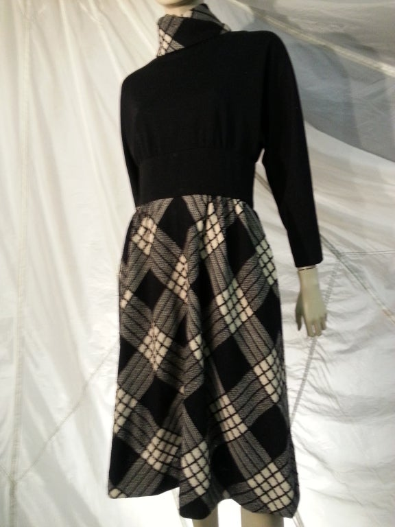 1960s Pauline Trigere Plaid Wool Dress and Jacket 4