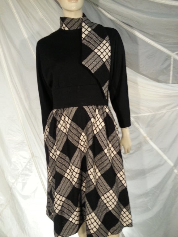 1960s Pauline Trigere Plaid Wool Dress and Jacket 5