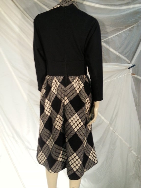 1960s Pauline Trigere Plaid Wool Dress and Jacket 6