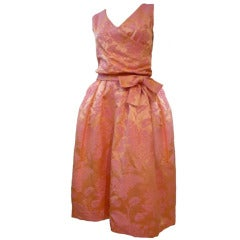 Christian Dior Late '50s Silk Brocade Cocktail Dress w/ Shoes