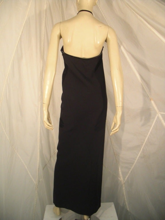 1990s Tom Ford for Gucci Leather Harness Gown 3
