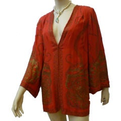 1920s Silk Lamé Embroidered Jacket