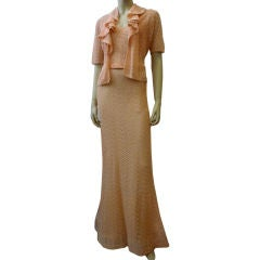 1930s Gorgeous Crochet Gown and Jacket