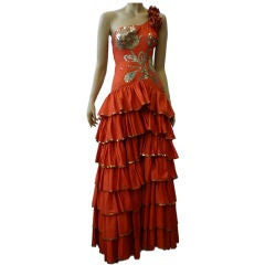 Sensational 1940s Sequined and Ruffled Flamenco Costume