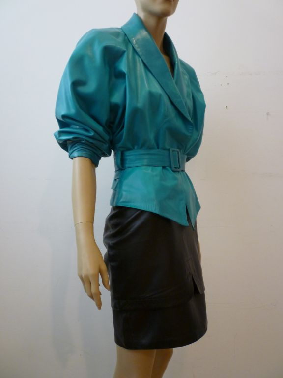 Turquoise Silk Blouse