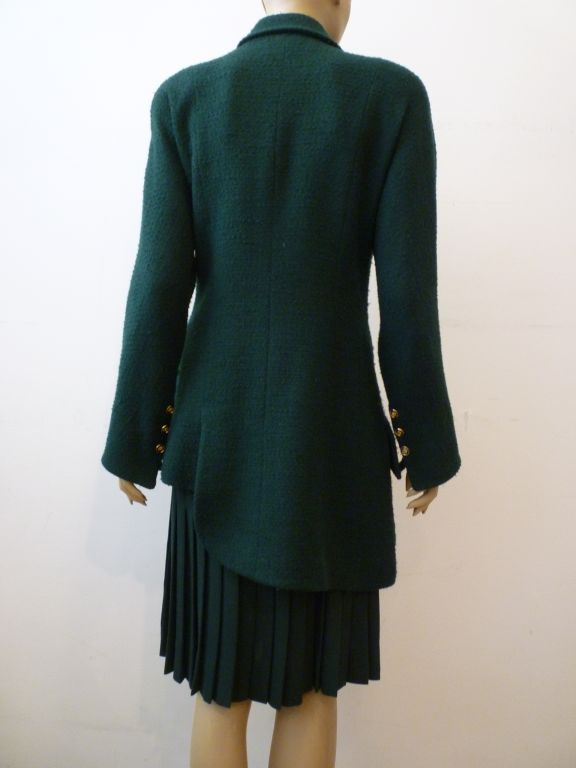 Karl Lagerfeld Late 80s Asymmetrical Boucl 233 Jacket And