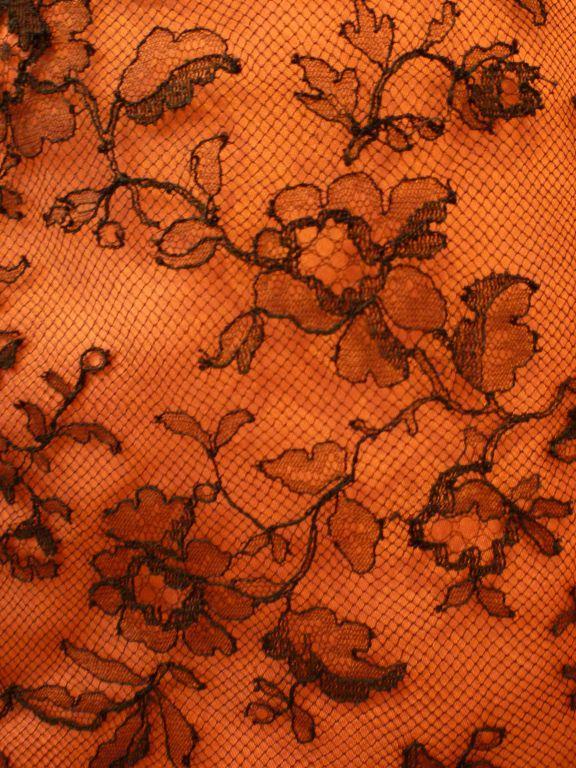 Couture Dior 1950s Silk Taffeta and Lace Ballgown 8