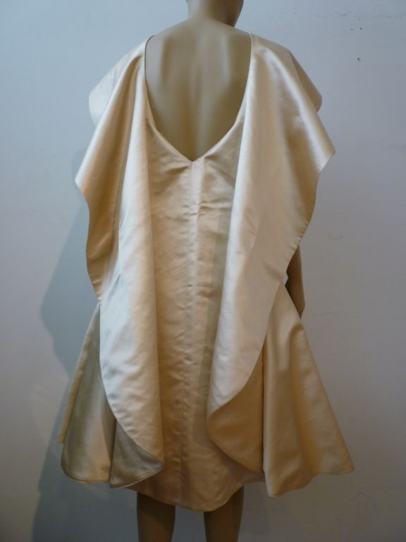 Don Loper Silk Satin Dress w/ Capelet image 3