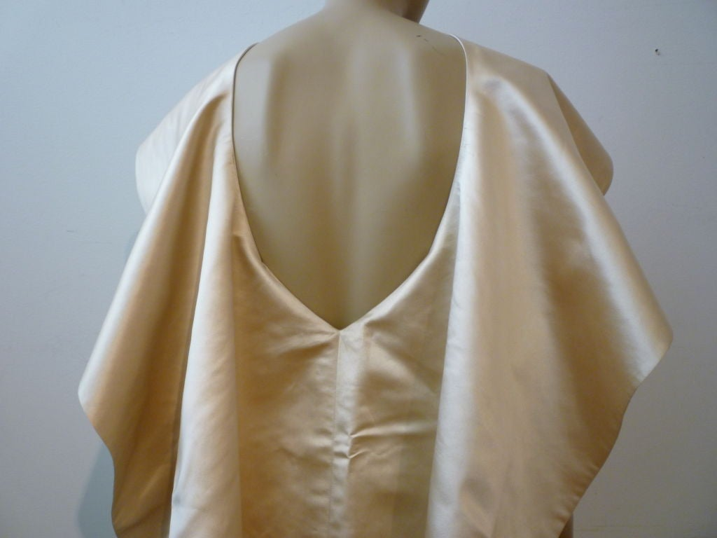 Don Loper Silk Satin Dress w/ Capelet image 4