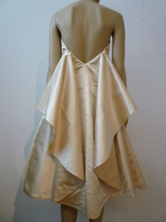 Don Loper Silk Satin Dress w/ Capelet image 6