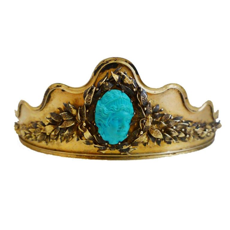 Neo-Classical Tiara with Persian Turquoise 1