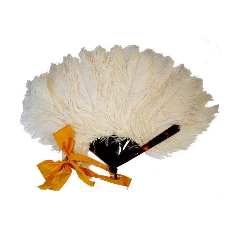 1920s Ostrich Feather Fan 1