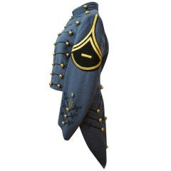 Dress Uniform Jacket w/ Tails and Gold Buttons