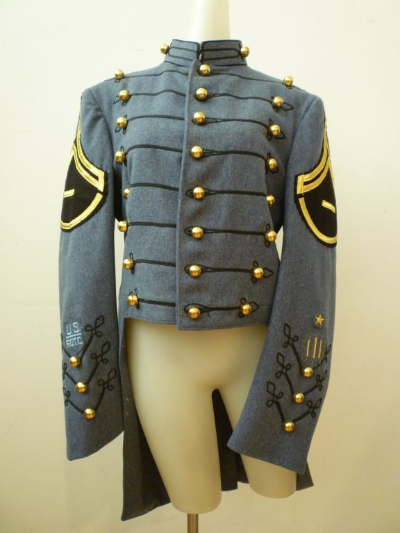 Dress Uniform Jacket w/ Tails and Gold Buttons image 2