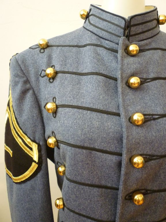 Dress Uniform Jacket w/ Tails and Gold Buttons image 3