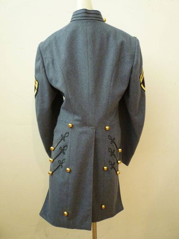 Dress Uniform Jacket w/ Tails and Gold Buttons image 4