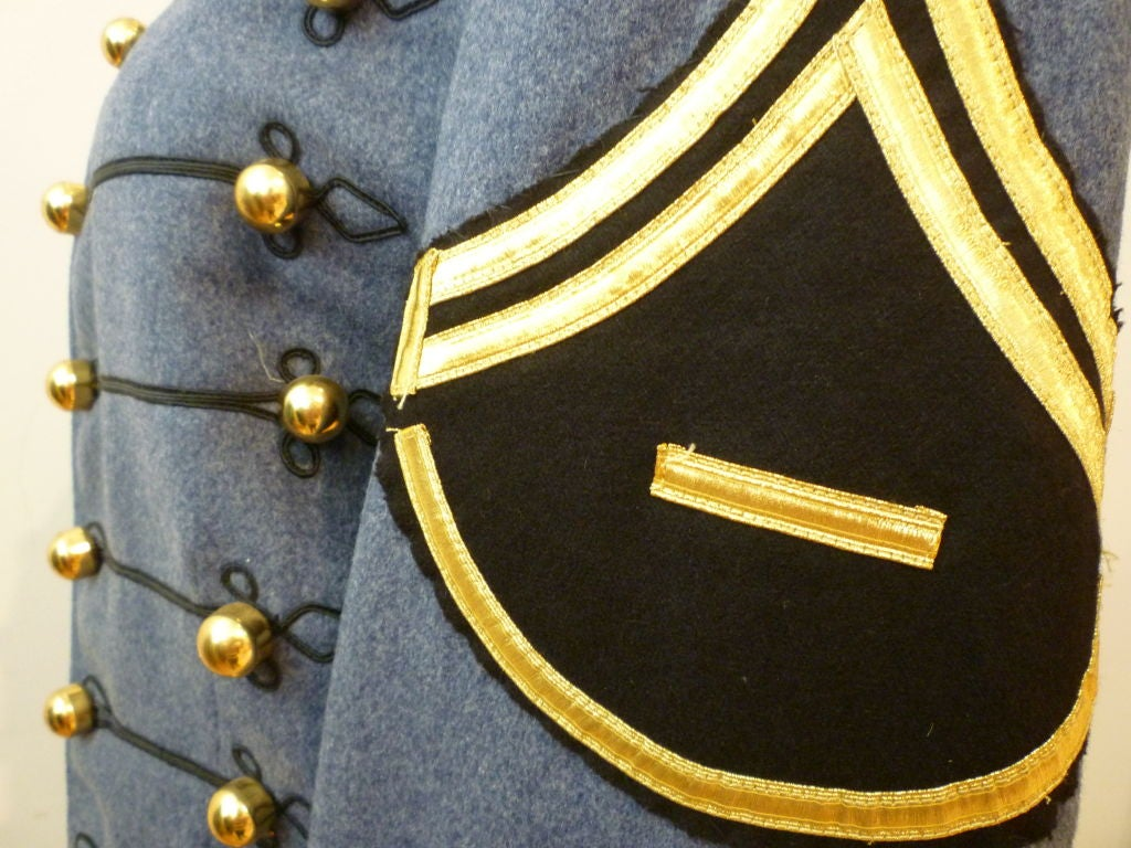 Dress Uniform Jacket w/ Tails and Gold Buttons image 5