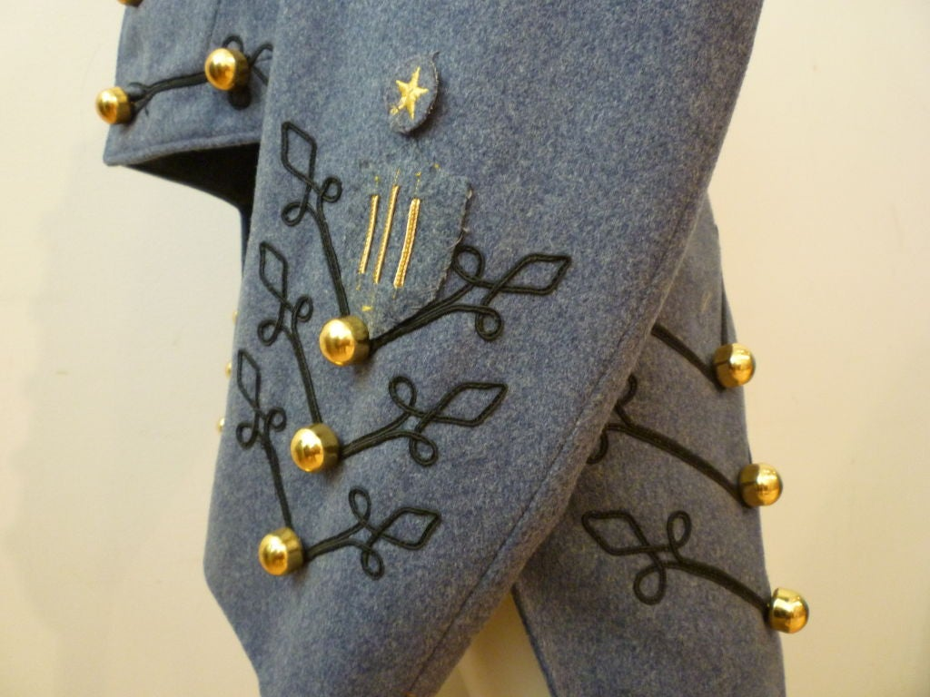 Dress Uniform Jacket w/ Tails and Gold Buttons image 6