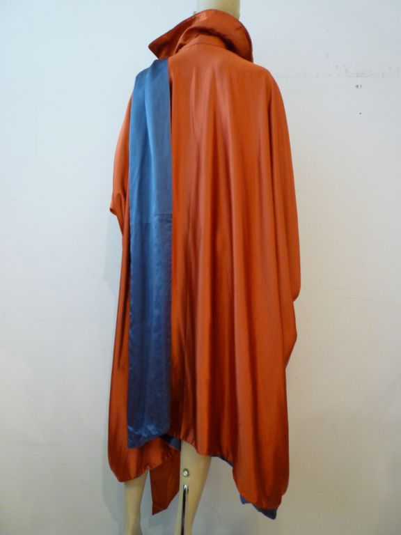 Ert style 1920s art deco reversible cocoon coat w foulard at 1stdibs - Deco style cocooning ...