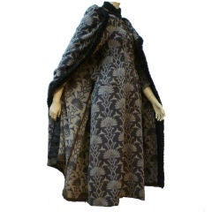Pre-Victorian French Wool Print Riding Coat