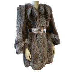 Spectacular 1940s Silver-Tip Fox Chubby Coat