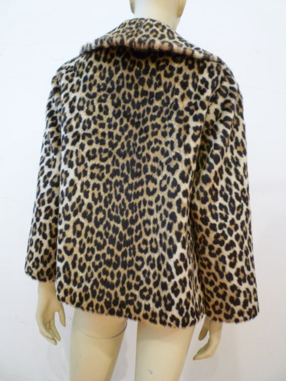 ce1a831ddbc0 Women's Super 60s Kilimanjaro Faux Leopard Pea Coat For Sale