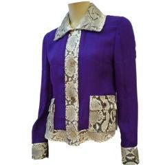Dolce & Gabbana Silk Chiffon Snakeskin Jacket