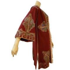 Vintage Moroccan  Wool Caftan w/ Studs and Rhinestones