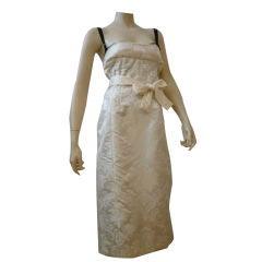 Dolce & Gabbana 90s Brocade Bustier Dress