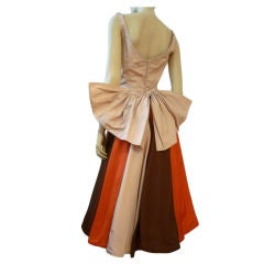 Don Loper Two-Piece Autumnal Taffeta Cocktail Dress & Coat