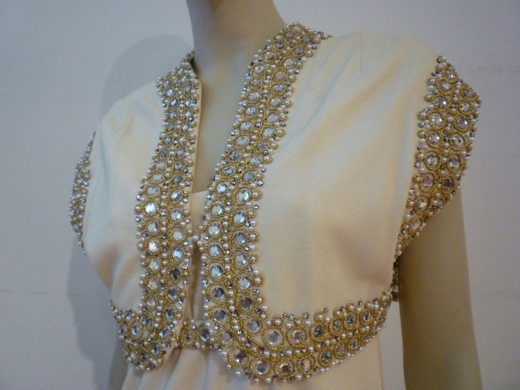 Pauline Trigere 60s Empire Embellished Dress with Jacket 2