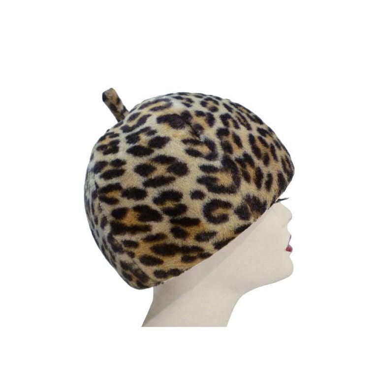 Fabulous Mr. John 60s Mod Leopard Hat 1