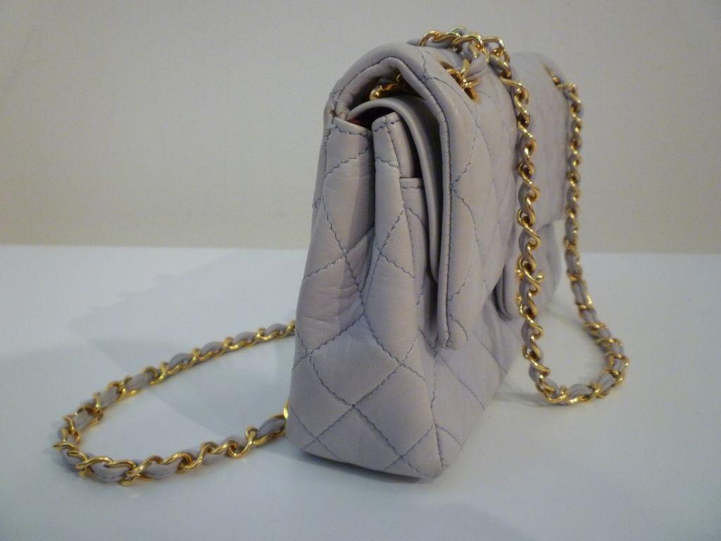 Chanel 2.55 Quilted Envelope Shoulder Bag in Pale Blue 2