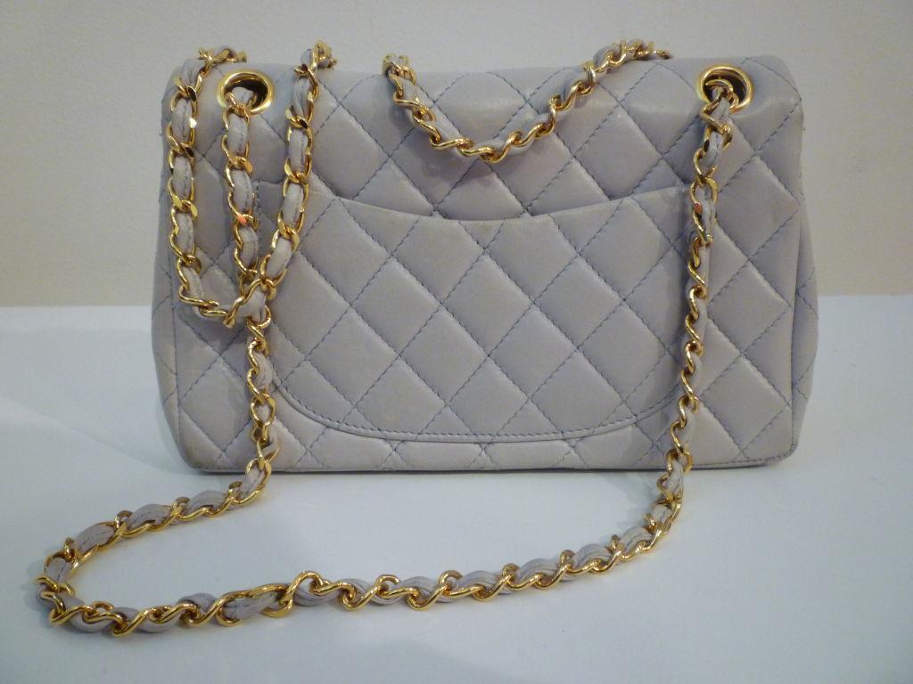 Chanel 2.55 Quilted Envelope Shoulder Bag in Pale Blue 3