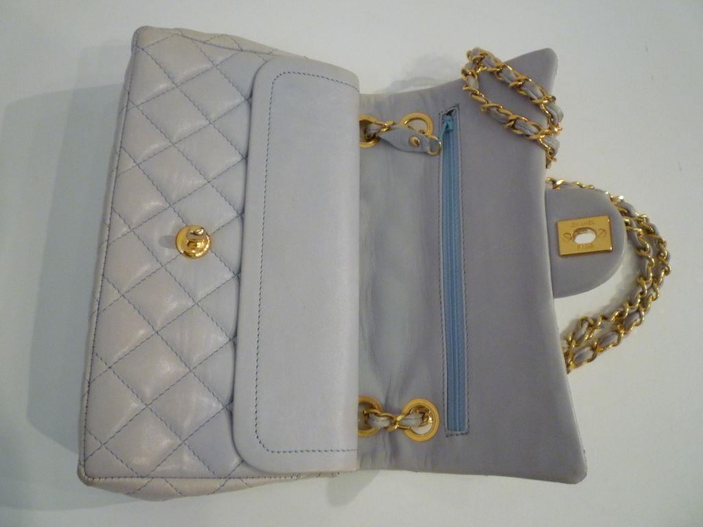 Chanel 2.55 Quilted Envelope Shoulder Bag in Pale Blue 4