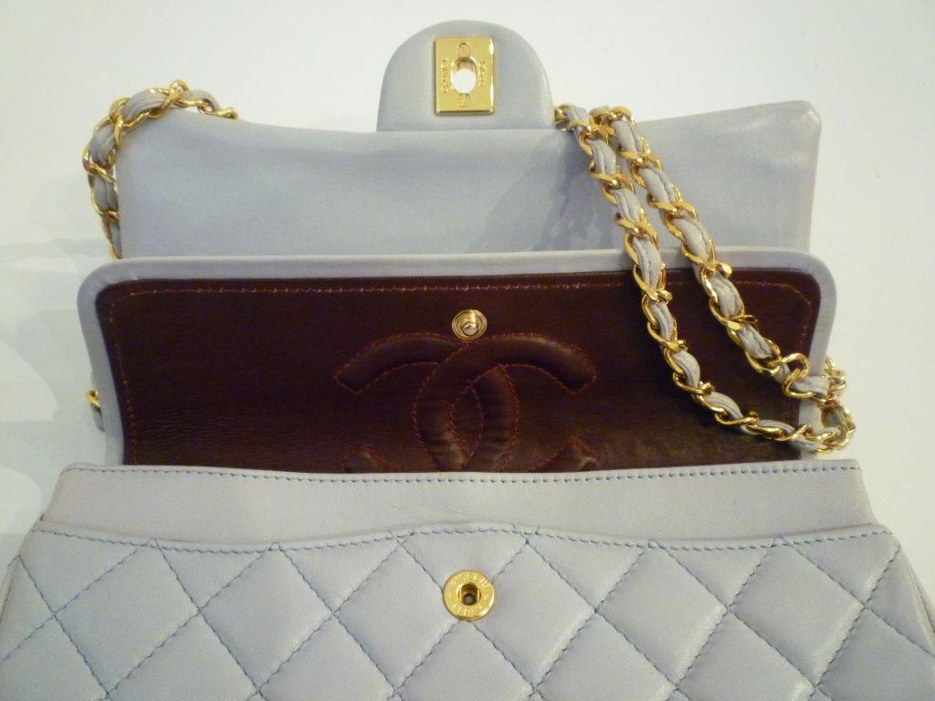 Chanel 2.55 Quilted Envelope Shoulder Bag in Pale Blue 5