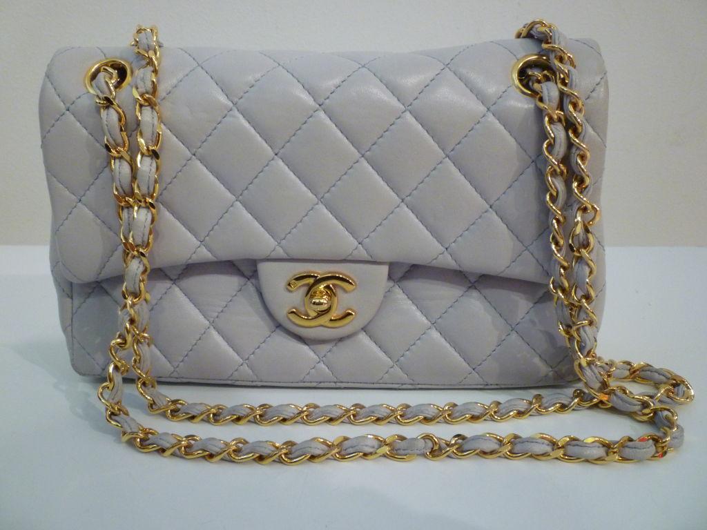 Chanel 2.55 Quilted Envelope Shoulder Bag in Pale Blue 6