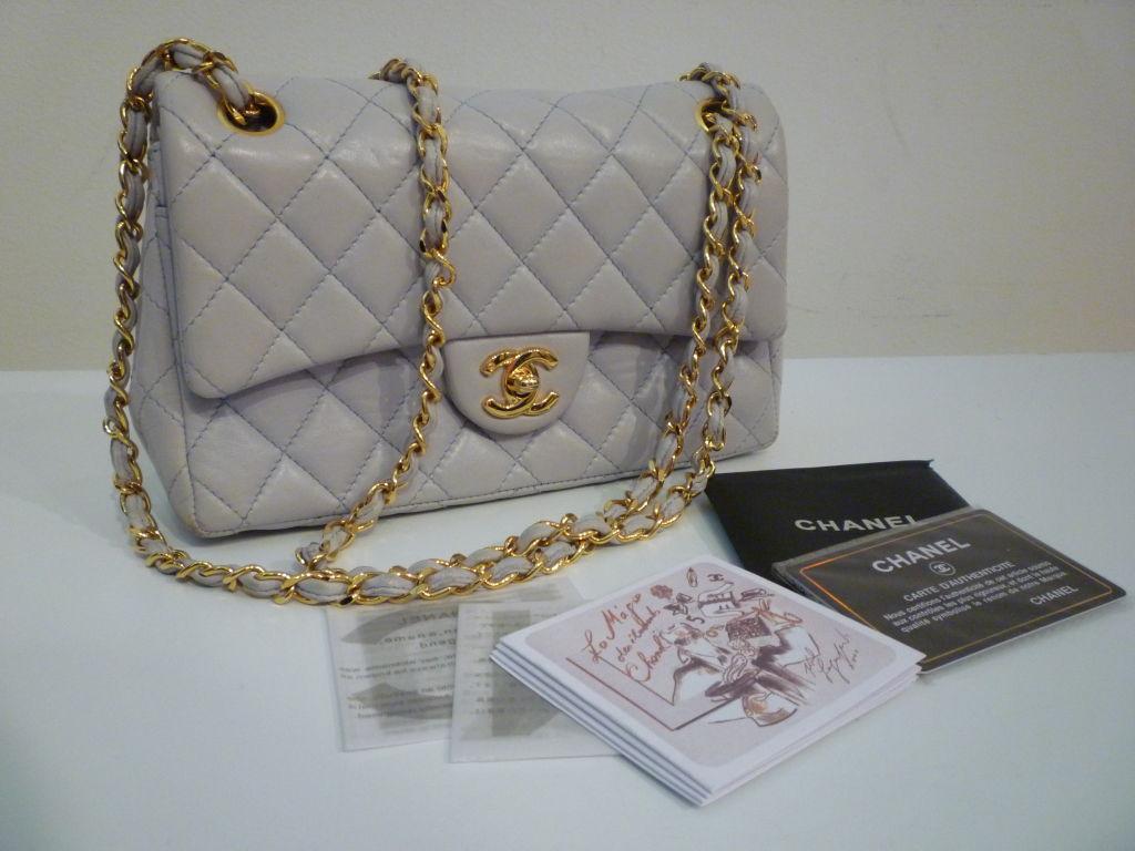 Chanel 2.55 Quilted Envelope Shoulder Bag in Pale Blue 7
